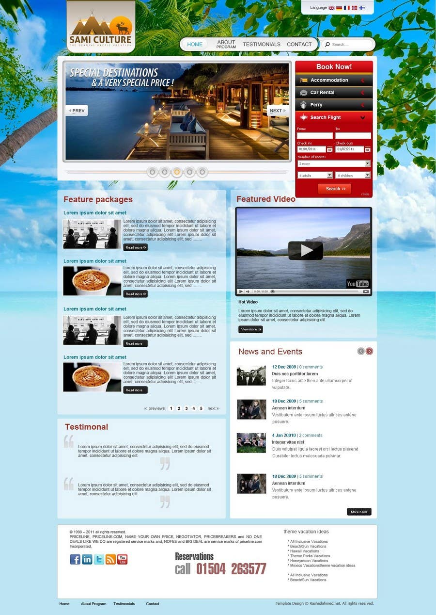 Contest Entry #                                        43                                      for                                         Website Design for Sami Culture (Joomla!)
