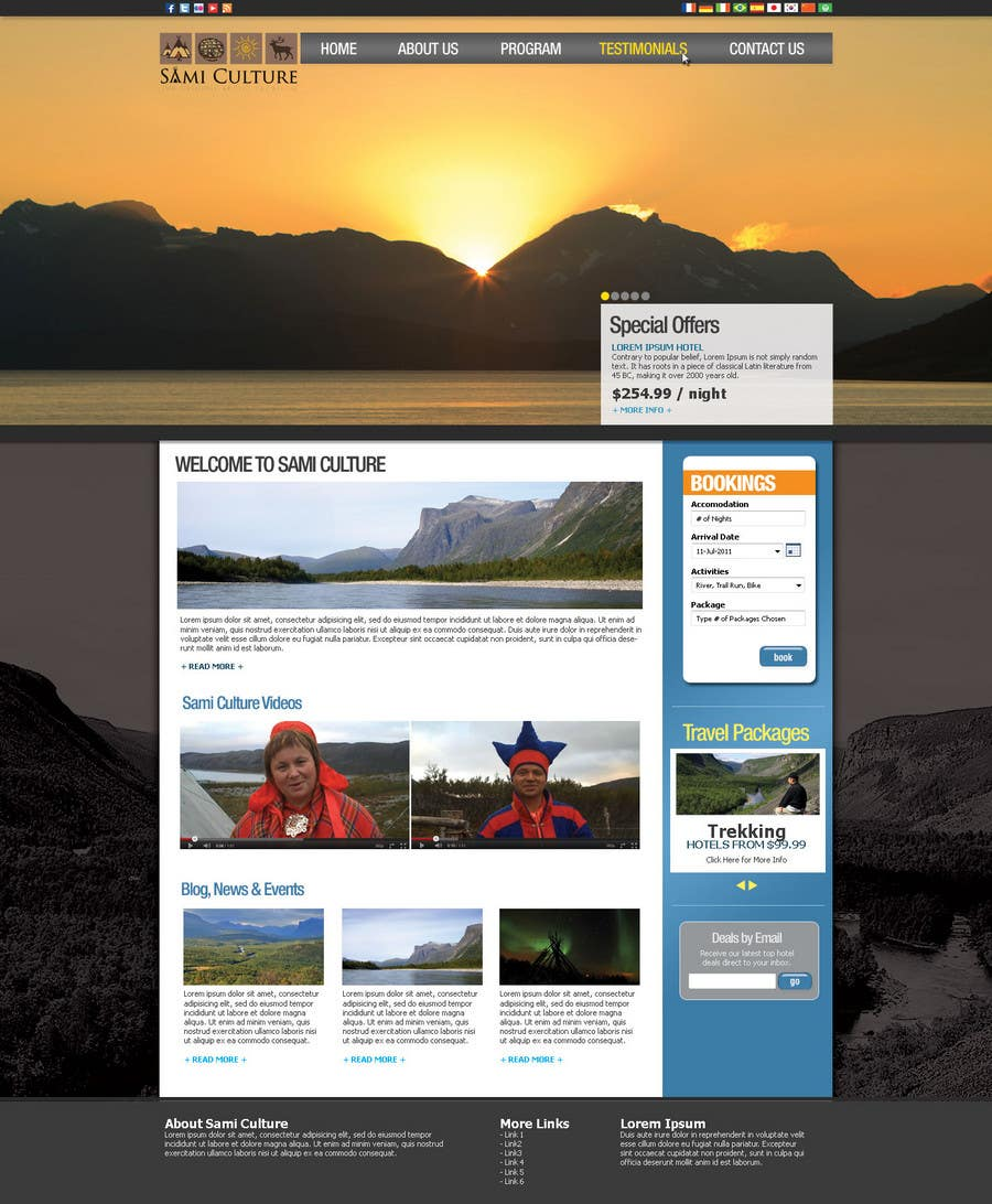 Contest Entry #                                        39                                      for                                         Website Design for Sami Culture (Joomla!)