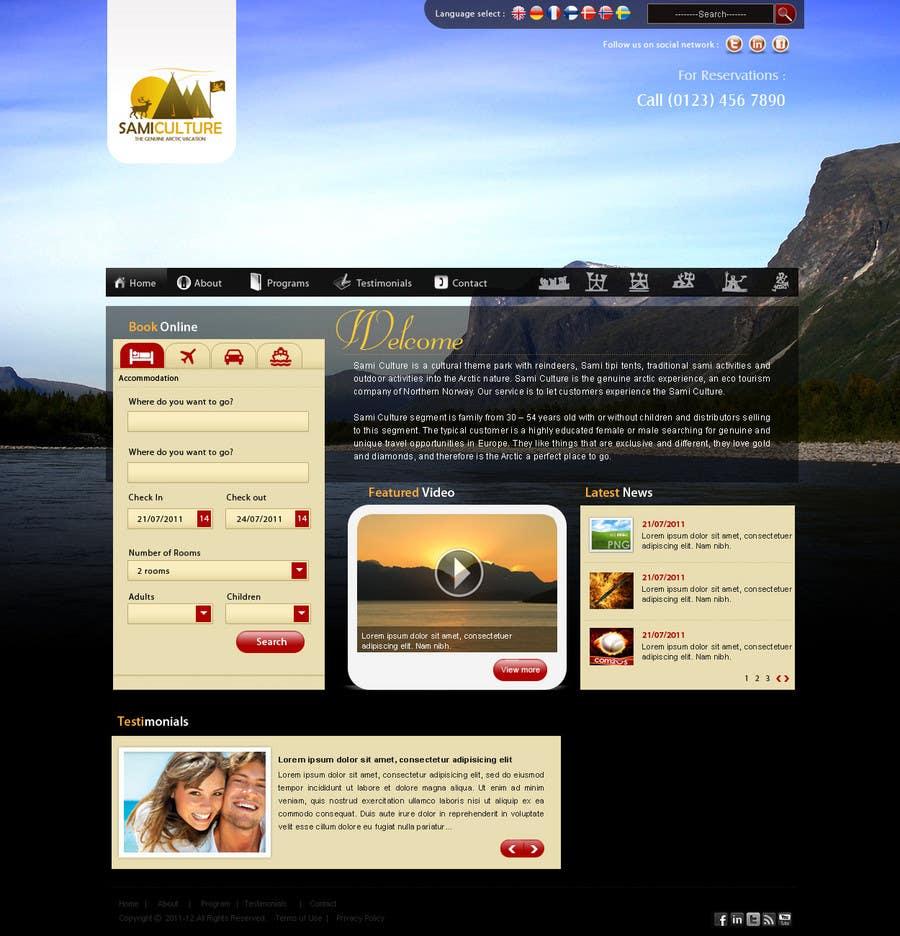 Contest Entry #                                        42                                      for                                         Website Design for Sami Culture (Joomla!)