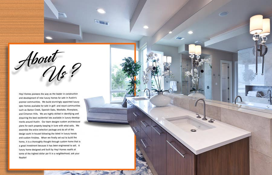 Entry 36 By Msudaria For Design A Luxury Home Brochure