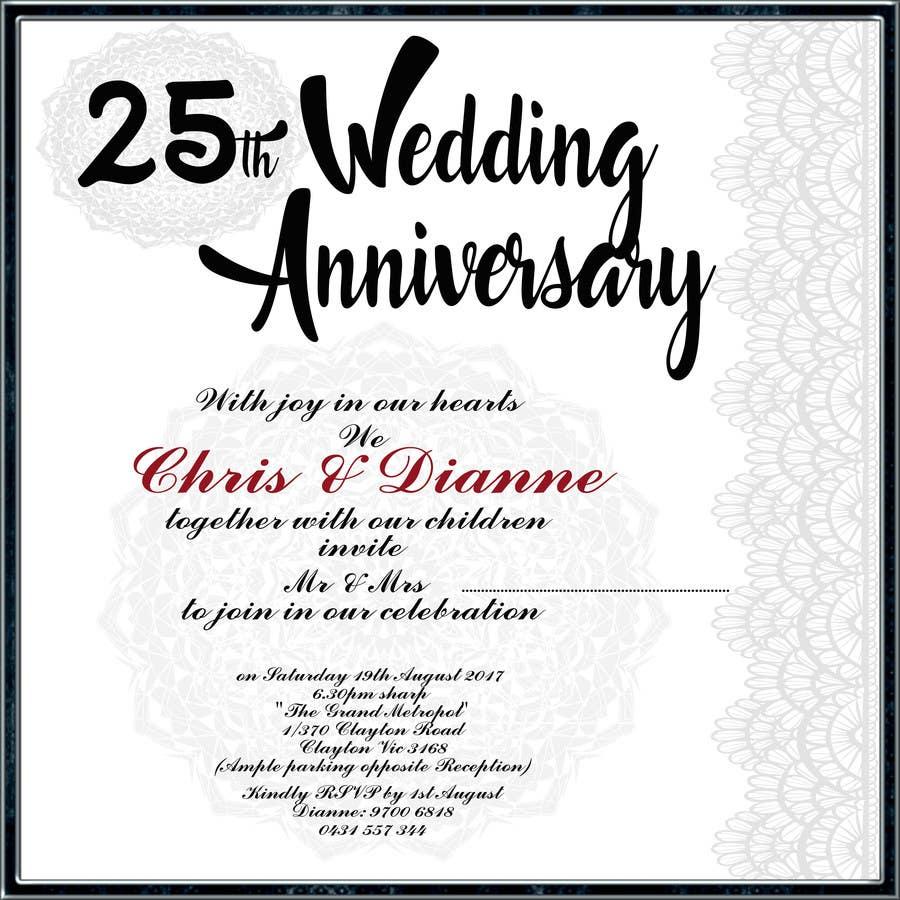 Entry #30 by joseph414 for 25TH WEDDING ANNIVERSARY INVITATION ...