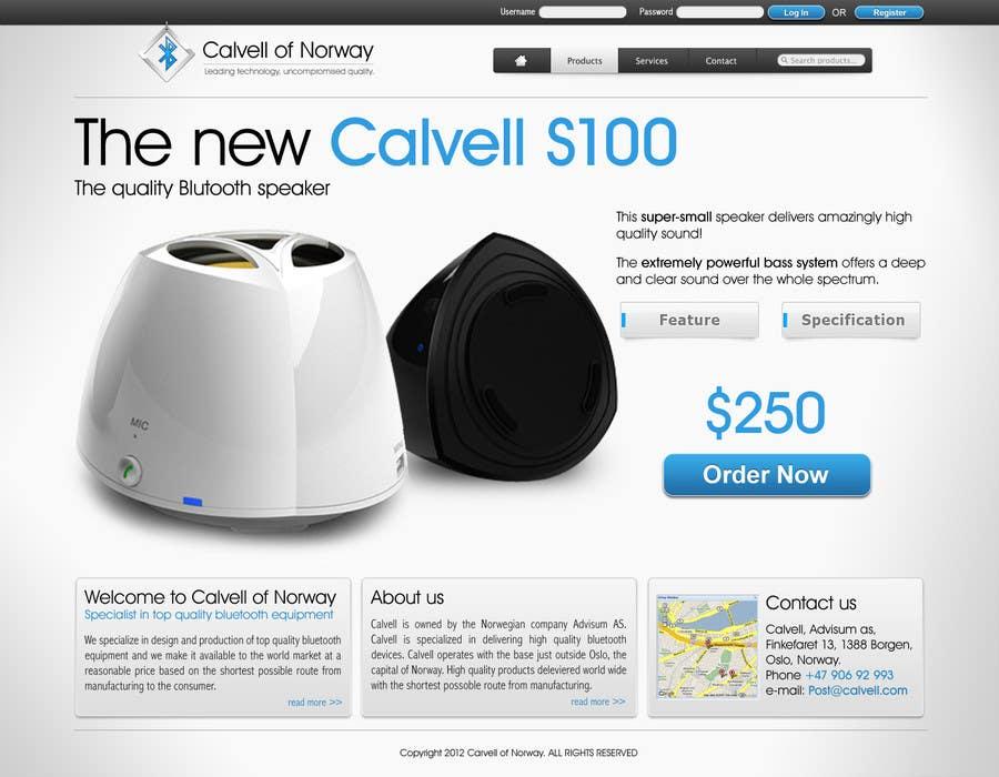 #75 for Website Design for Calvell.com by SHIBANISOFT