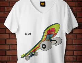 nº 1 pour Skate Related T-shirt design par badreouzzine