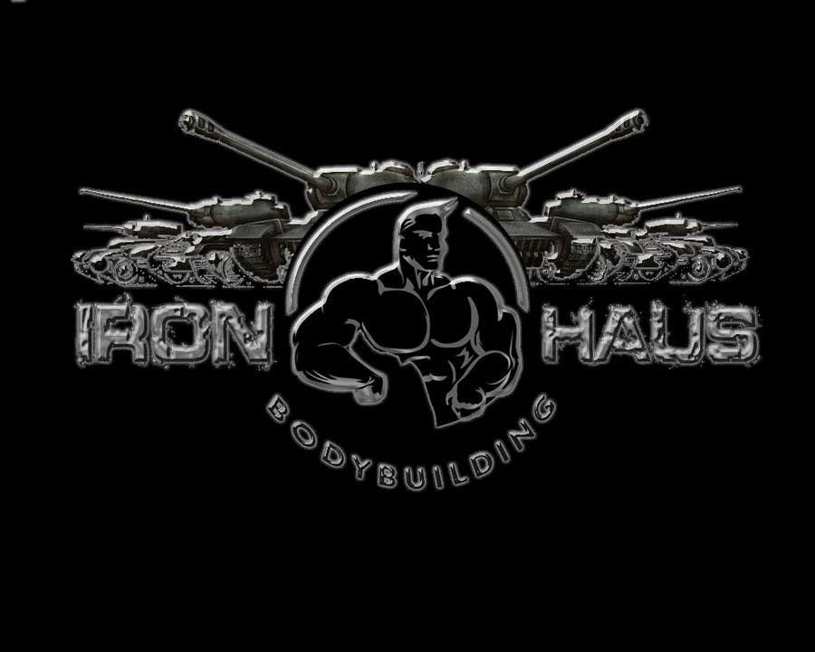 logo design for iron haus bodybuilding freelancer