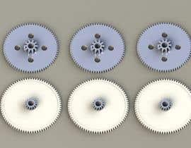 nº 11 pour Simple 3D illustration of metal/plastic gears par palyokhan