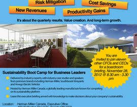 #41 for Business Sustainability Boot Camp - 1 page digital flyer by melvtec