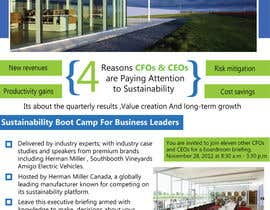 #44 para Business Sustainability Boot Camp - 1 page digital flyer por rsbhat