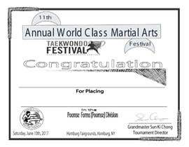 nº 22 pour Martial Arts Tournament Certificate par jewelstd