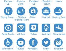 nº 14 pour Create Icon set + Font for digital wayfinding system par babarhossen