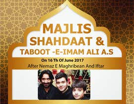 nº 4 pour Design poster for Shahadat Imam Ali a.s par semabanjum