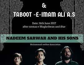 nº 10 pour Design poster for Shahadat Imam Ali a.s par nursuhailazwir