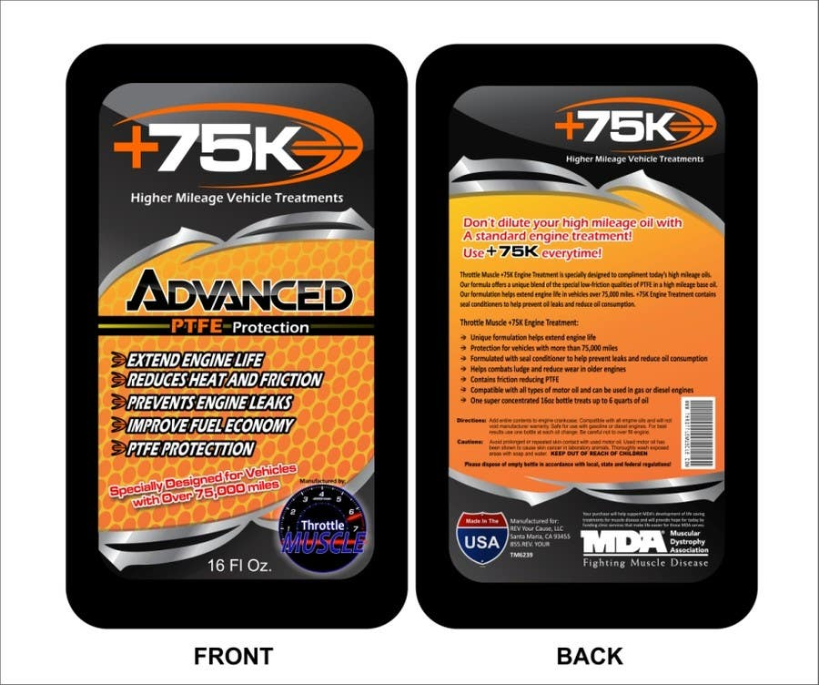 #46 for Print & Packaging Design for +75K High Mileage Engine Treatment by arteq04