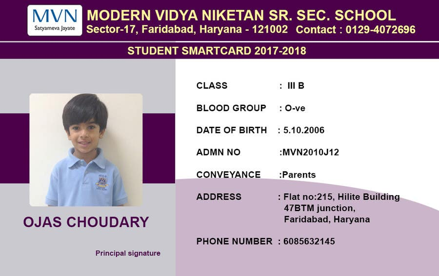 Id 38 Athulab Design-student Staff School Freelancer Security By Guard Entry Card For