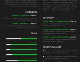 nº 5 pour One Page Interactive Resume Design par Avinash1807