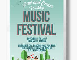 #61 for Design a Music Festival Wedding Poster by nikkihipolito