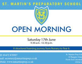 #29 for Design a flyer for open morning June 2017 by ioananca2006