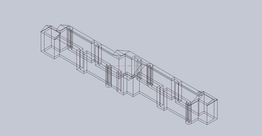 Proposition n°2 du concours I need a 2D plan to be modeled into a 3D printable file