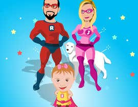 nº 7 pour Personalized superhero drawing par MhmdAbdoh
