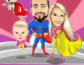 nº 14 pour Personalized superhero drawing par kaliuser54