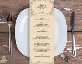 nº 12 pour Design a wedding menu par gcavalcanti