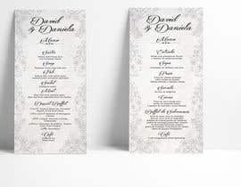 nº 22 pour Design a wedding menu par raciumihaela