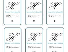 nº 16 pour Design Clothing Inner Tags par AndRenCADworks
