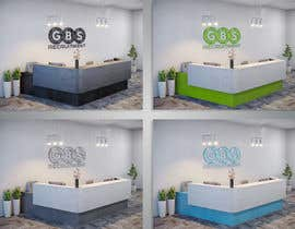nº 1 pour I need some 3D Graphic Design for office reception desk furniture and signage par kurgas0