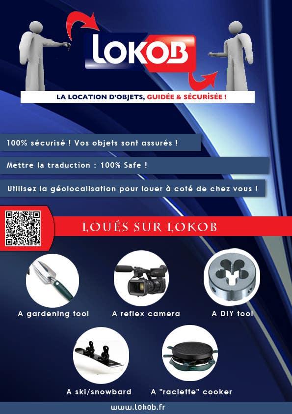 Advertisement Design (Flyer/A4) for a New Start-up (Lokob.com) için 20 numaralı Yarışma Girdisi