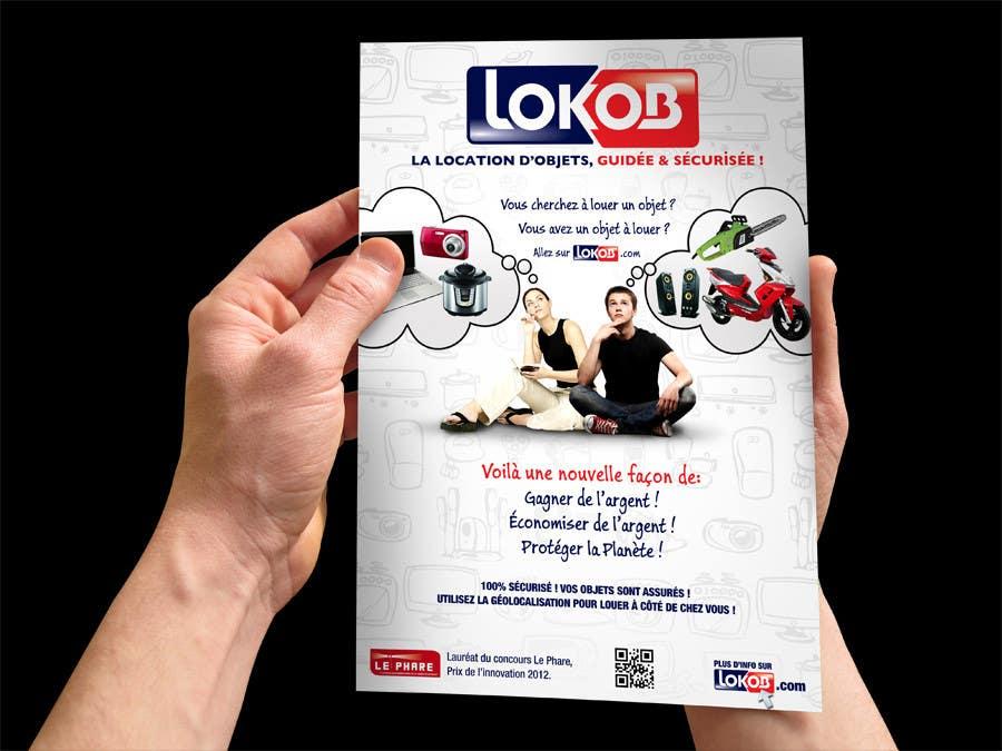 Конкурсная заявка №40 для Advertisement Design (Flyer/A4) for a New Start-up (Lokob.com)