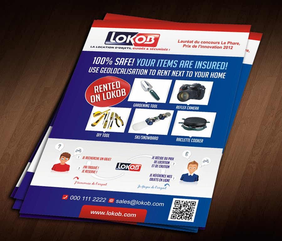 Kilpailutyö #                                        43                                      kilpailussa                                         Advertisement Design (Flyer/A4) for a New Start-up (Lokob.com)