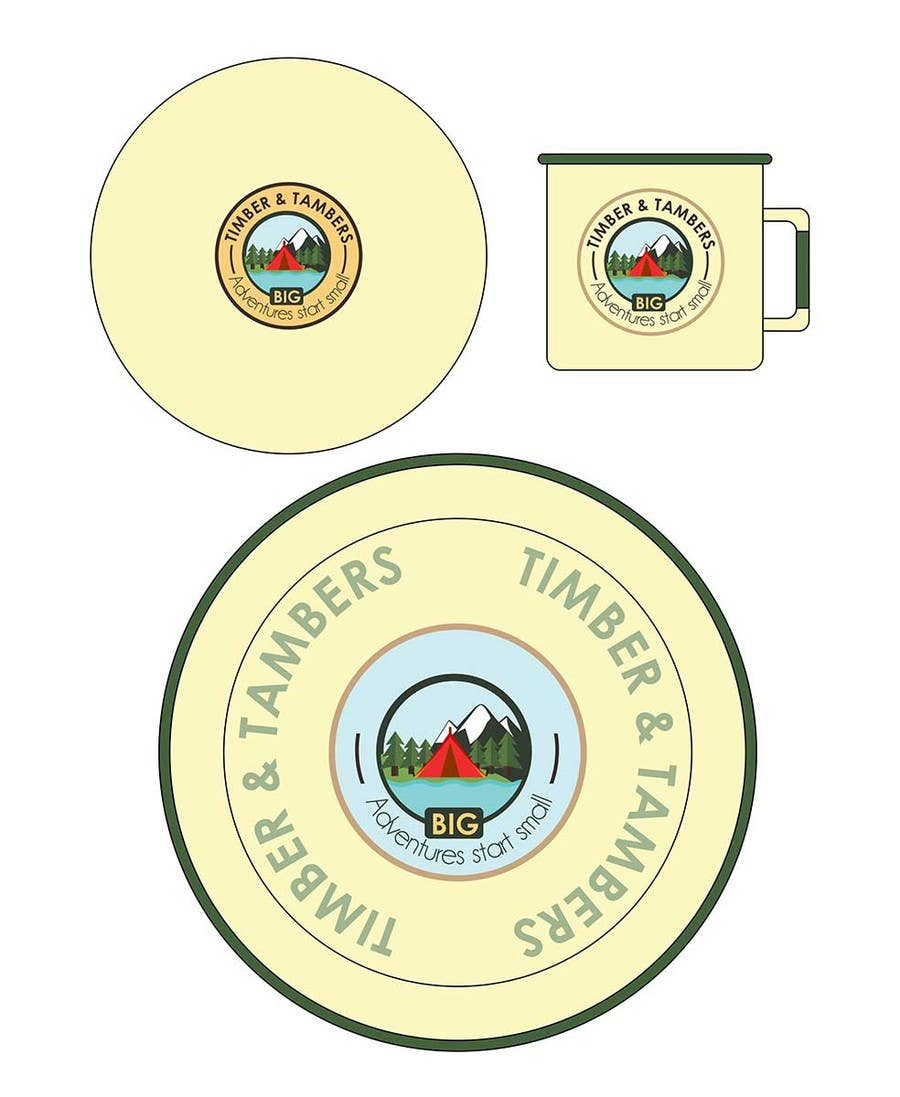 Proposition n°6 du concours Timber and Tamber children's camping and outdoor wear - enamel dinner set