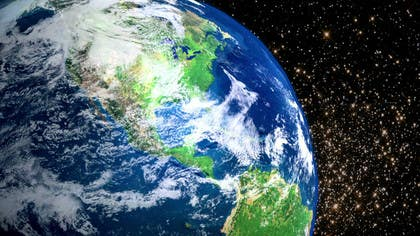 Image of                             I need a photo of earth from the...