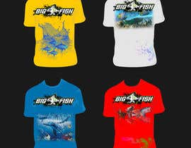nº 13 pour T shirt fishing Graphic Design par RainbowVivid