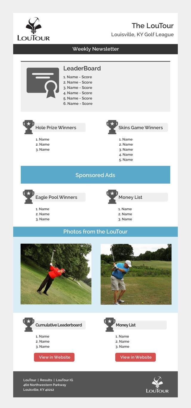 Proposition n°1 du concours MailChimp eblast template design (Golf)