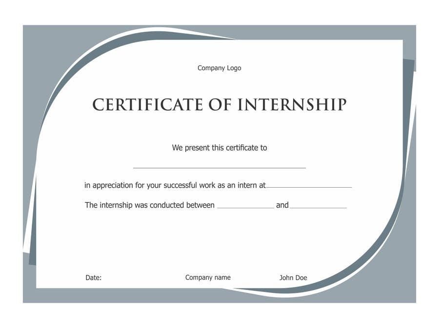 Entry 55 by symbolart for design internship certificate freelancer contest entry 55 for design internship certificate yadclub Choice Image