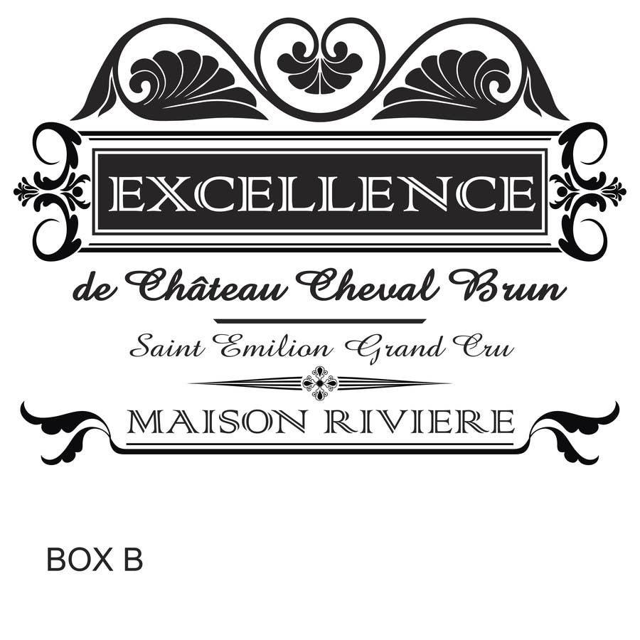 Kilpailutyö #29 kilpailussa Print & Packaging Design for Excellence Bordeaux Wine
