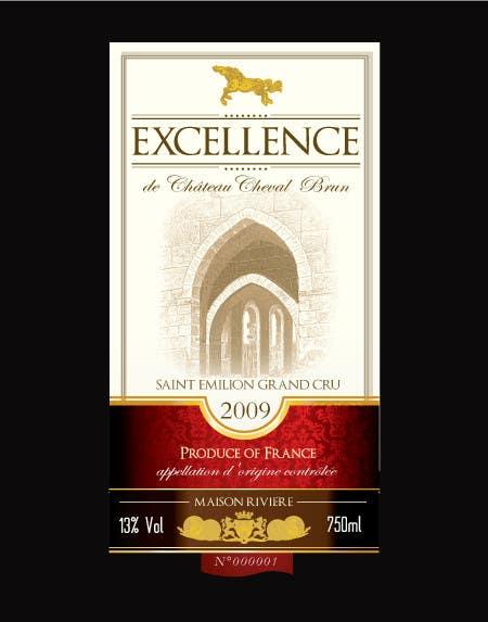 Kilpailutyö #20 kilpailussa Print & Packaging Design for Excellence Bordeaux Wine