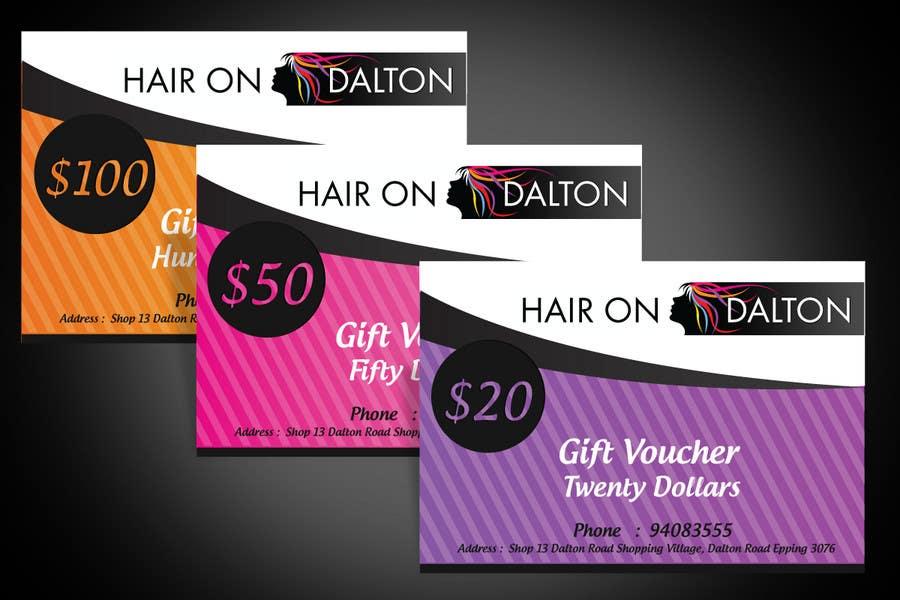 Kilpailutyö #144 kilpailussa Stationery Design for HAIR ON DALTON