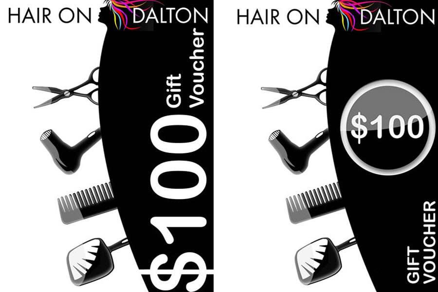 Kilpailutyö #107 kilpailussa Stationery Design for HAIR ON DALTON