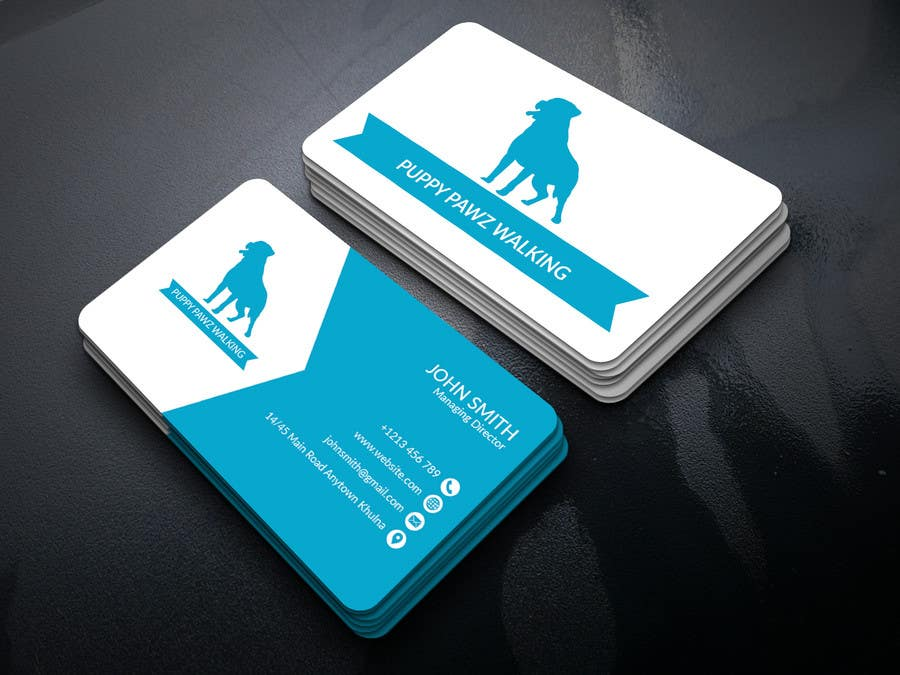 Entry #9 by mdselimc for Business Cards for a Australian Dog Walking ...
