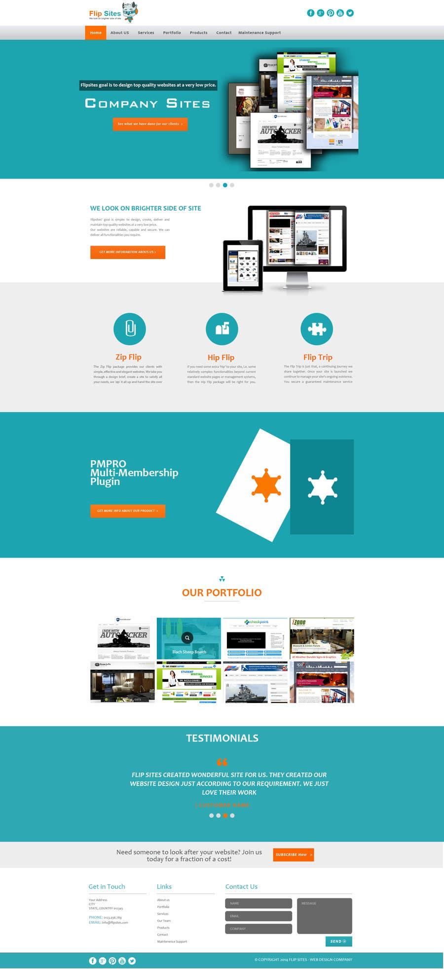 Inscrição nº                                         6                                      do Concurso para                                         Design Website for Web design company in PSD