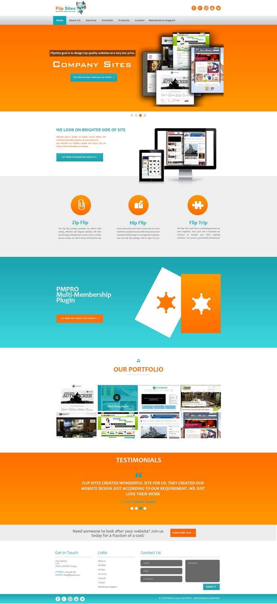 Inscrição nº                                         20                                      do Concurso para                                         Design Website for Web design company in PSD