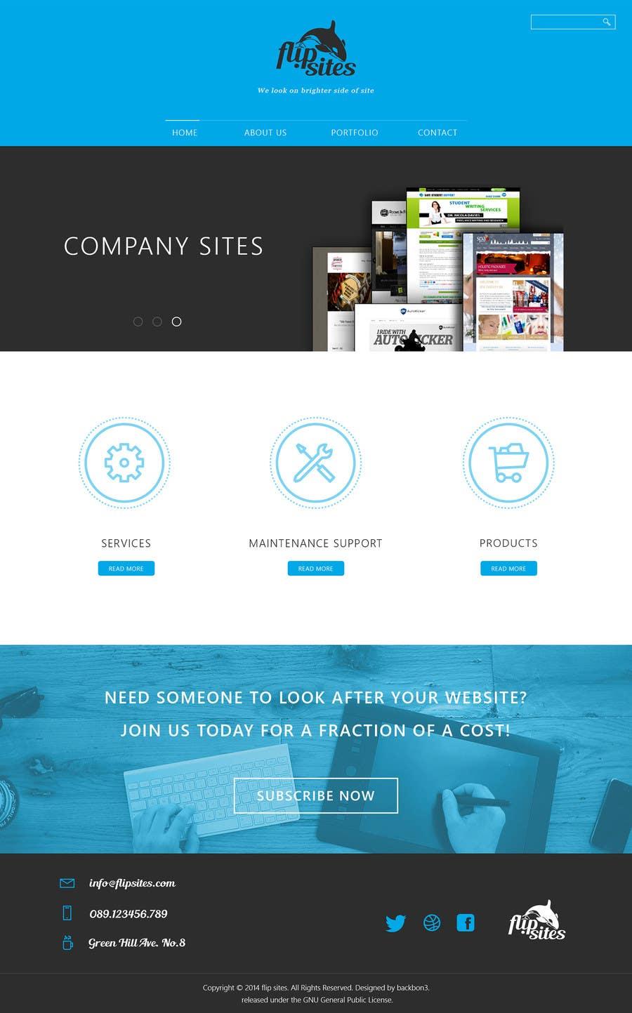 Inscrição nº                                         2                                      do Concurso para                                         Design Website for Web design company in PSD