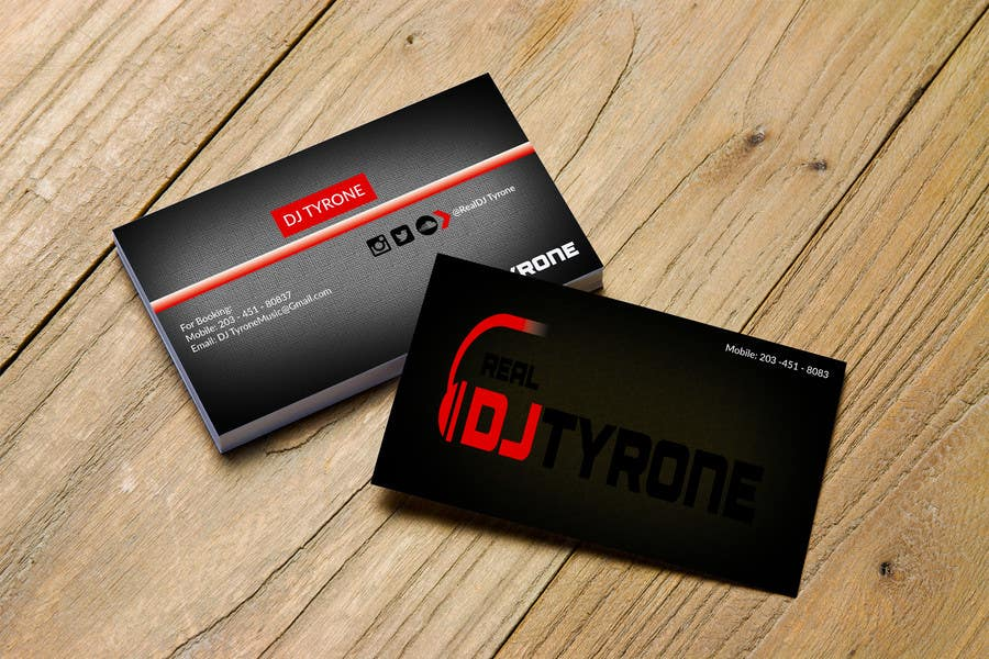 Entry #46 by bluedogdesign for DJ Tyrone\'s Business Card | Freelancer