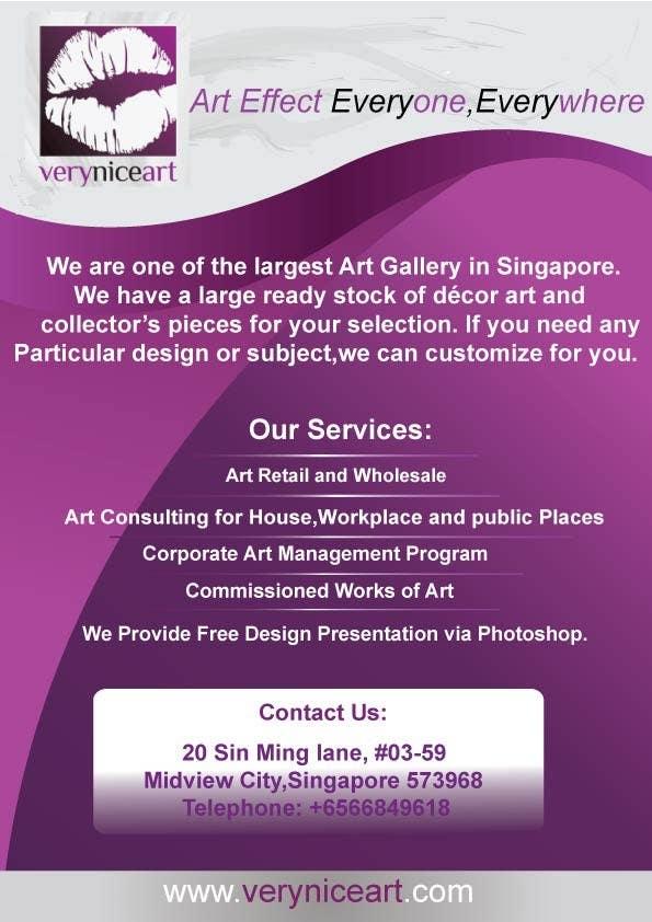 Konkurrenceindlæg #                                        88                                      for                                         Flyer Design for Very Nice Art Pte Ltd (veryniceart.com)