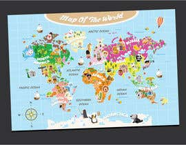 #36 untuk Illustration Design for World Maps for Kids oleh Decafe