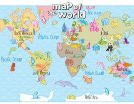 #41 untuk Illustration Design for World Maps for Kids oleh Ferrignoadv