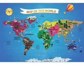 #25 untuk Illustration Design for World Maps for Kids oleh datagrabbers