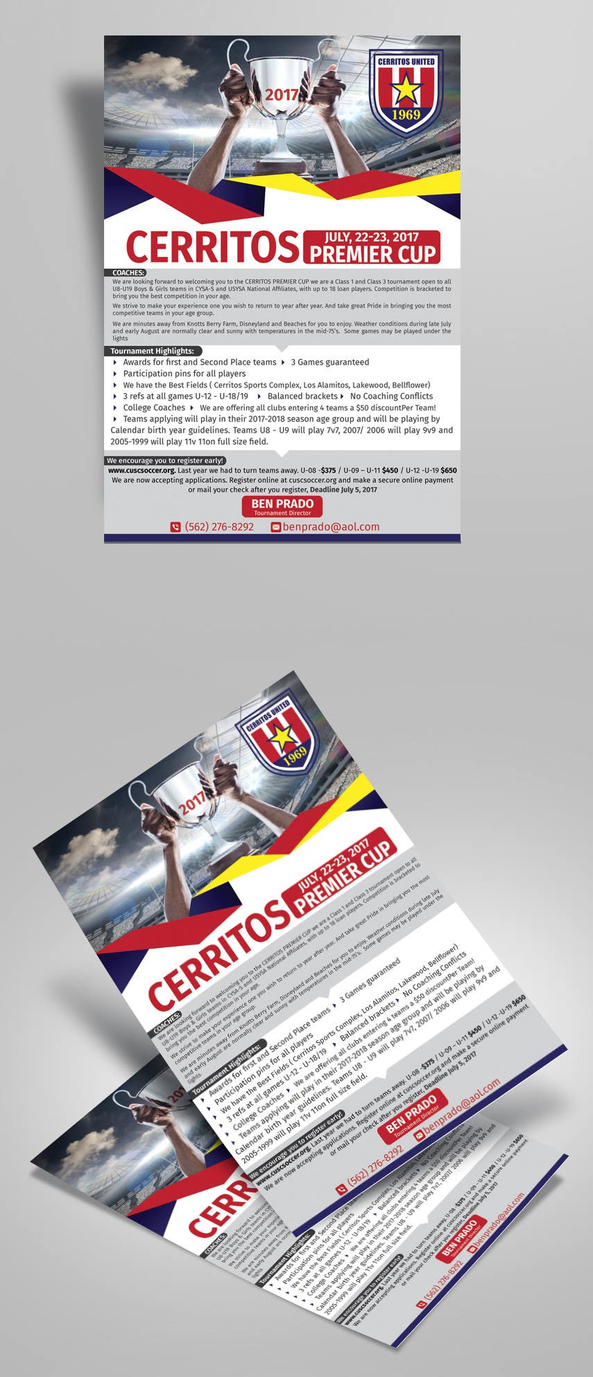entry 22 by satishchand75 for design a soccer tournament flyer