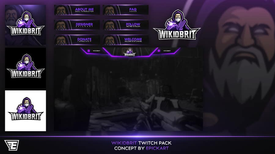 Entry #13 by EpickART for Twitch/Social Media Branding and Overlay
